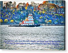 Stay Afloat With Hope Acrylic Print by Terry Wallace