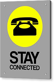 Stay Connected 1 Acrylic Print by Naxart Studio