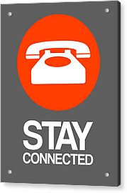 Stay Connected 2 Acrylic Print by Naxart Studio