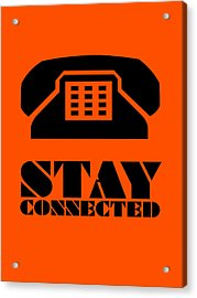 Stay Connected 3 Acrylic Print by Naxart Studio