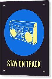 Stay On Track Boombox 2 Acrylic Print by Naxart Studio