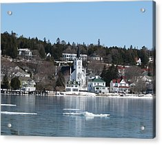 Ste. Anne's Catholic Church On Mackinac Island Acrylic Print by Keith Stokes