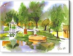 Ste Marie Du Lac In Watercolor II Acrylic Print