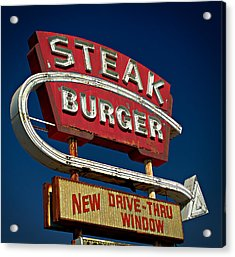 Steak Burger Acrylic Print
