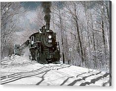 Steam And Snow Acrylic Print