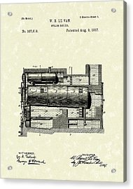 Steam Boiler 1887 Patent Art Acrylic Print