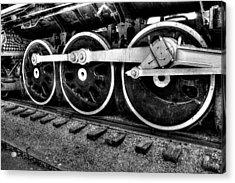 Steam Engine Wheels Acrylic Print by Honour Hall