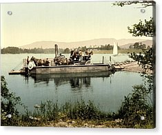 Steam Ferry, Lake Windermere, Uk Acrylic Print