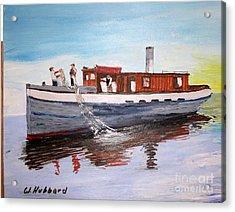 Steam Fishing Tug John Smith Acrylic Print by Bill Hubbard