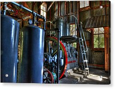 Steam Generator At Koreshan Acrylic Print by Timothy Lowry
