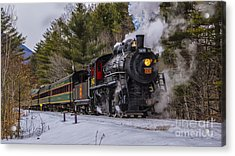 Steam In The Snow 2015 Acrylic Print