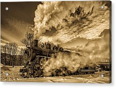 Steam In The Snow Acrylic Print