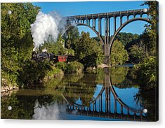 Steam In The Valley Acrylic Print