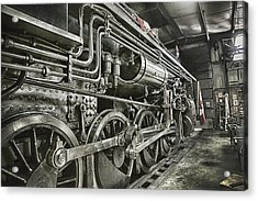 Steam Locomotive 2141 Acrylic Print by Theresa Tahara