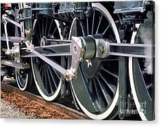 Steam Locomotive Coupling Rod And Driver Wheels Acrylic Print by Wernher Krutein