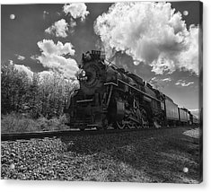 Steam Locomotive Passing Through Acrylic Print