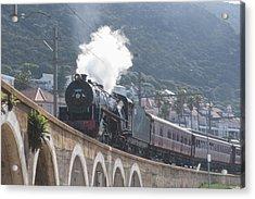Steam Locomotive Acrylic Print by Tom Hudson
