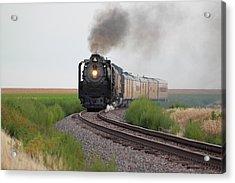 Steam On The Plains Acrylic Print by Jason Drake