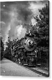 Steam On The Rails Acrylic Print by Dale Kincaid