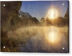 Steam On The Water Acrylic Print by Jason Politte