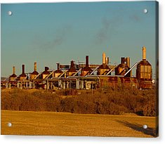Acrylic Print featuring the photograph Steam Plant In Cymric Field by Lanita Williams
