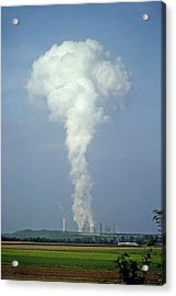 Acrylic Print featuring the photograph Steam Plume by Rod Jones