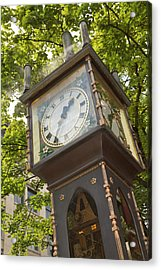 Steam Powered Clock In The Gastown Acrylic Print