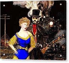 Steam Punk Love Acrylic Print by Larry Lamb
