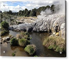 Steam Acrylic Print by Ron Torborg