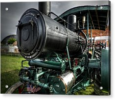 Steam Tractor 001 Acrylic Print by Lance Vaughn
