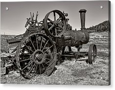 Steam Tractor - Molson Ghost Town Acrylic Print by Daniel Hagerman