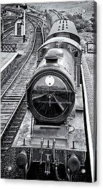 Steam Train Arriving In Weybourne Acrylic Print