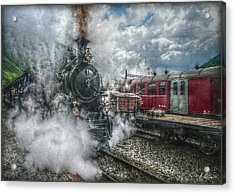 Acrylic Print featuring the photograph Steam Train by Hanny Heim