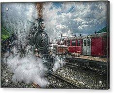 Steam Train Acrylic Print by Hanny Heim