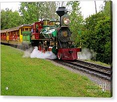 Steam Train Acrylic Print by Joy Hardee