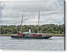 Steam Yacht Cangarda Acrylic Print by Constantine Gregory