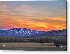 Steamboat Alpenglow Acrylic Print
