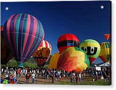 Steamboat Balloon Rising  Acrylic Print by Michael J Bauer