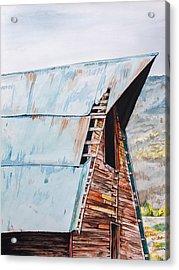 Steamboat Barn Acrylic Print by Aaron Spong