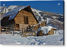 Acrylic Print featuring the photograph Steamboat Barn by Don Schwartz