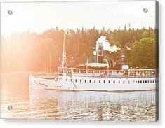 Steamboat On Lake Acrylic Print
