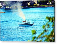 Steamboat On St. Lawrence River Acrylic Print by Timothy Thornton