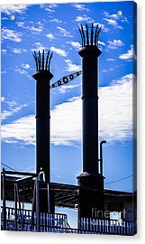 Steamboat Smokestacks On The Natchez Steam Boat Acrylic Print by Paul Velgos