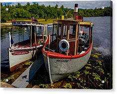 Steamboats On The Lake Acrylic Print