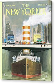 New Yorker November 21st, 1994 Acrylic Print by Bruce McCall