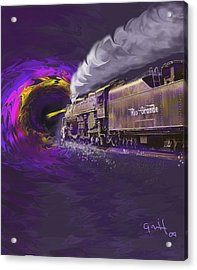 Steaming Into The Black Hole Of History Acrylic Print by J Griff Griffin