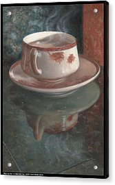Steaming Tea In A Japanese Cup Acrylic Print