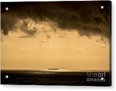 Steaming Thru The Sunrise Acrylic Print by Rene Triay Photography