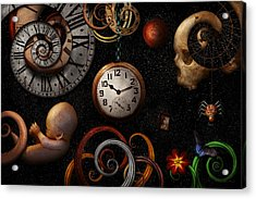 Steampunk - Abstract - The Beginning And End Acrylic Print by Mike Savad