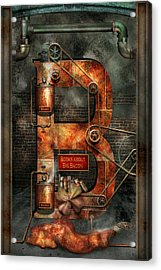 Steampunk - Alphabet - B Is For Belts Acrylic Print by Mike Savad